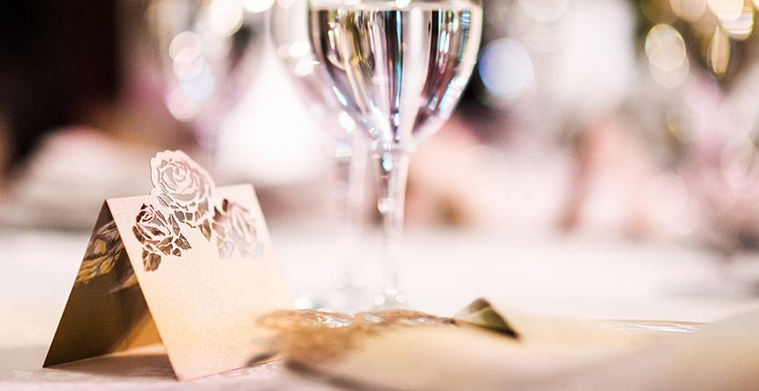 Bordsplaceringen på ditt bröllop